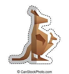 kangaroo low poly style