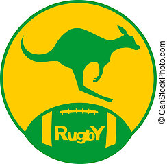 Kangaroo rugby - Creative design of kangaroo rugby