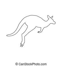 Kangaroo silhouette illustration