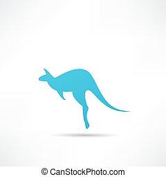 Kangaroo vector silhouettes