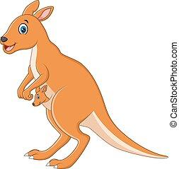kangourou, dessin animé