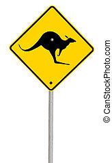 kangourou, path), (with, signe