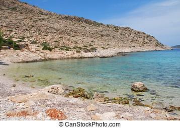 Kania beach, Halki