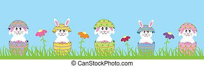 Kaninchen, Ostern, glücklich