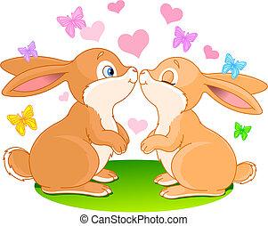 kaniner, kärlek