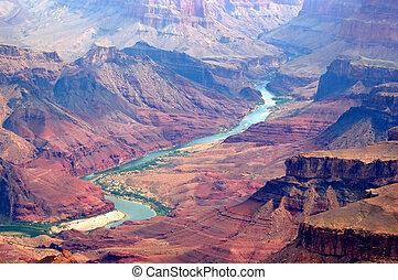 kanion, rzeka, kolorado, wielki