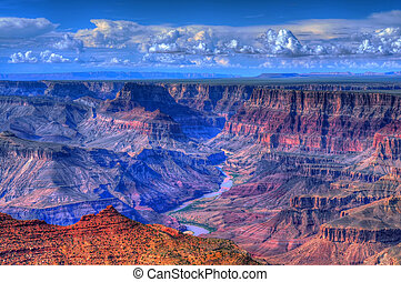 kanjon, arizona, storslagen