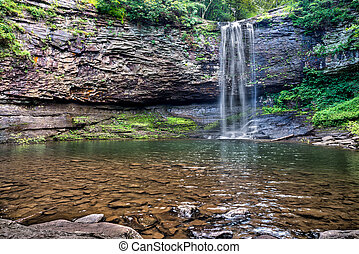 kanjon, tillstånd, norr, vattenfall, parkera, georgia, cloudland