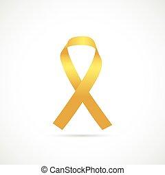 kanker, bewustzijn, lint, illustratie
