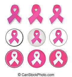 kanker, vector, borst, lint