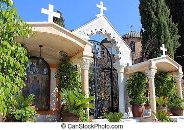 kanna, 正統 教会, 中庭, 奇跡, イスラエル, 最初に, kafr
