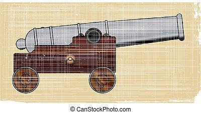 kanone, schiffe