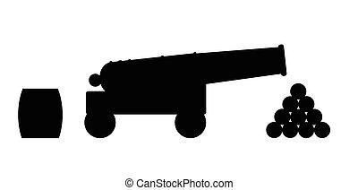 kanone, silhouette