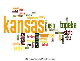 kansas , λέξη , σύνεφο