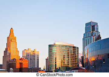 Kansas City architecture at sunrise - Kansas City...