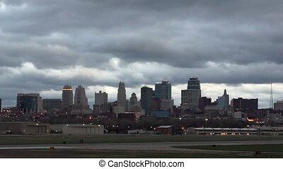 Kansas City Missouri Clay County Downtown City Skyline...