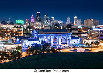 Kansas City Night Skyline