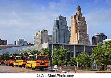 Kansas City skyline - Kansas City, Missouri - city in the...