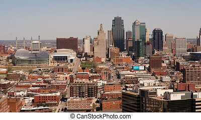 Kansas City Skyline Midwest Downtown City Skyline - High...