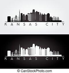 Kansas City skyline silhouette.