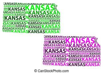 Kansas map vector