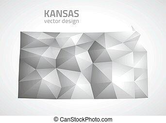Kansas polygonal vector map