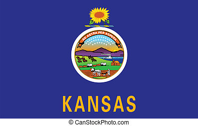 The flag of the state of Kansas