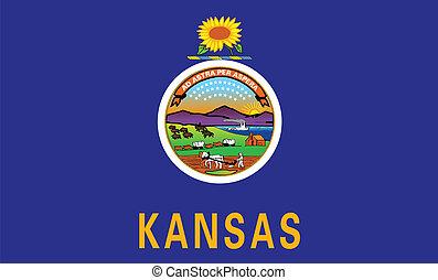 Kansas State Flag - The flag of the state of Kansas