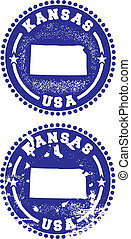Kansas USA Stamps