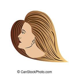 kant-bezichtiging, bruine , vrouw