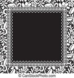 kant, floral, frame