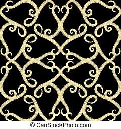 kantachtig, achtergrond., arabische , decoratief, stijl, lijnen, bochten, ornament, achtergrond., borduurwerk, vector, bloemen, grunge, floral, textuur, swirls., seamless, herhalen, decoratief, arabesk, tapestry, pattern., kant