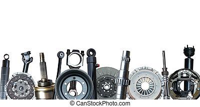 kanter, i, automobilen, parts., isoleret