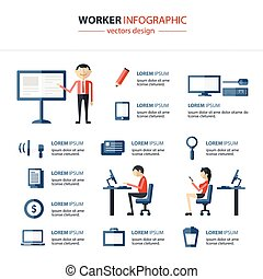 kantoor, infographics