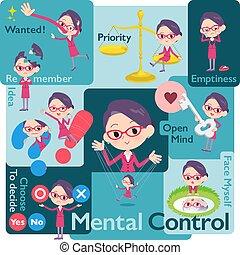 kantoor, rood, bril, women_mental