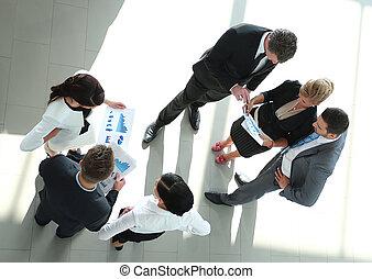 kantoor, succesvolle , moderne, team, busines, het bespreken