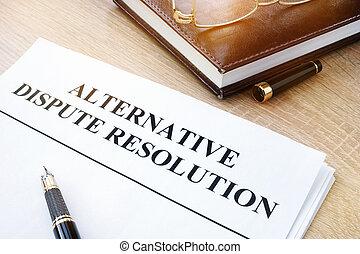 kantoor., titel, adr, alternatief, geschil, resolutie, documenten