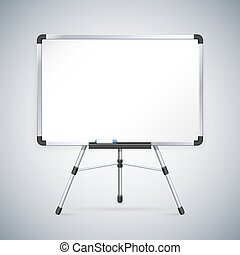 kantoor, whiteboard, op, statief