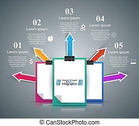 kantoor, zakelijk, infographic., -, zakelijk, opleiding
