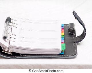 kantoorartikelen, -, dagboek, met, ruimte, om te, kopie