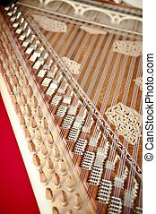 kanun, a, turkisk, instrument