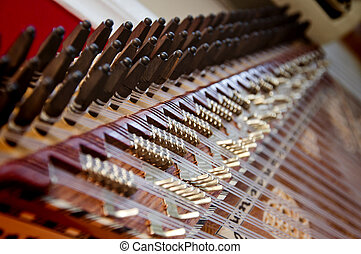 kanun, um, turco, instrumento