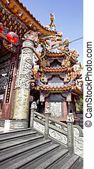 Buddhist temple in Kaohsiung, Taiwan.