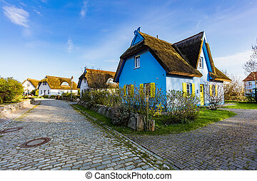 Kap Arkona, GERMANY. Colorful houses - Kap Arkona, GERMANY...