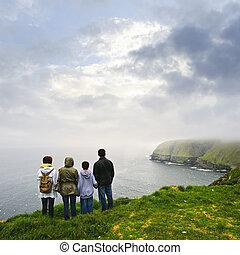 kap, st.., tilflugtsted, fugl, familie, newfoundland, økologiske, besøge, mary's