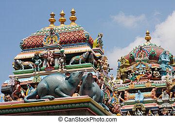 Kapaleeshwarar temple in Chennai, Tamil Nadu, India. This...