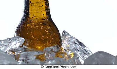 kapazität, Fest, eis, Auf, hintergrund, bier, Flasche,...