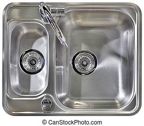 kapcsoló, mosogató, konyha