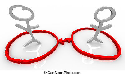 kapcsolatok, kommunikáció, emberek, két, hálózat