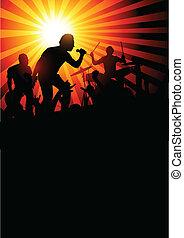 kapela, tvůj, grafické pozadí